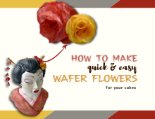 Easy Wafer Paper Flowers