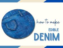 How to make edible denim