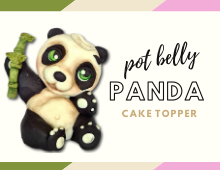 pot belly panda cake topper