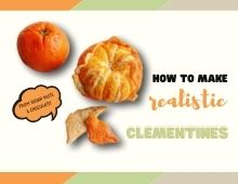 How to make realistic clementines